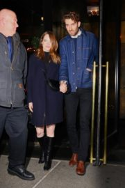 Emma Stone and her partner Dave McCary out the SNL afterparty in New York 2019/12/07 4