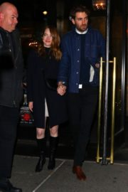 Emma Stone and her partner Dave McCary out the SNL afterparty in New York 2019/12/07 6