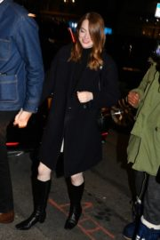 Emma Stone and her partner Dave McCary out the SNL afterparty in New York 2019/12/07 9