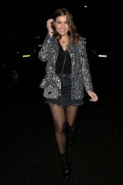 Imogen Thomas in stylish dress night out at Novikov in Mayfair 2019/12/19 1