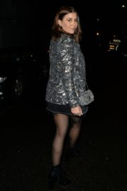 Imogen Thomas in stylish dress night out at Novikov in Mayfair 2019/12/19 4