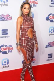 Jingle Bell Ball 2019: Rita Ora flaunts her midriff in a quirky cut-out dress on the Red Carpet at The O2 Arena in London on Saturday 1
