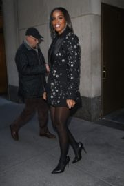Kelly Rowland seen in black outfit outside The Today Show in New York 2091/11/26 7