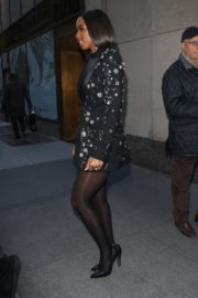 Kelly Rowland seen in black outfit outside The Today Show in New York 2091/11/26 10