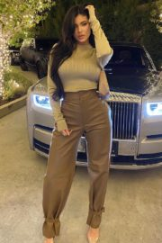 Kylie Jenner looks incredible in a champagne top and leather trousers as she went for girl's night out 1