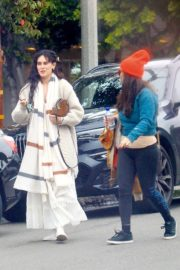 Rumer Willis outside a salon with a friend in Hollywood 2019/11/30 2