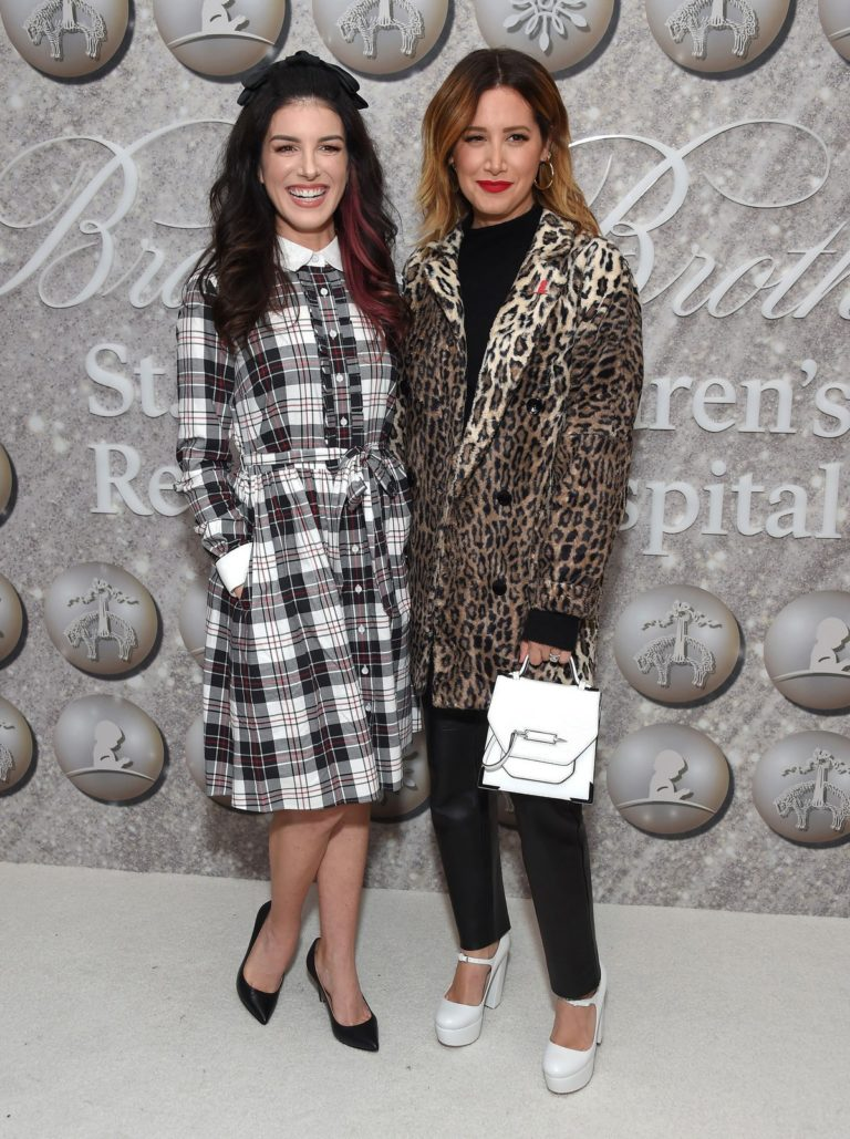 Shenae Grimes-Beech and Ashley Tisdale attend Brooks Brothers Holiday Celebration St. Jude in West Hollywood 2019/12/07 1