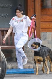 Ariel Winter with her dogs after visiting the vet in Studio City 2020/01/31 1