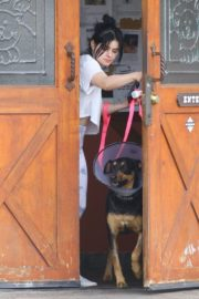 Ariel Winter with her dogs after visiting the vet in Studio City 2020/01/31 3