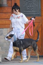 Ariel Winter with her dogs after visiting the vet in Studio City 2020/01/31 4