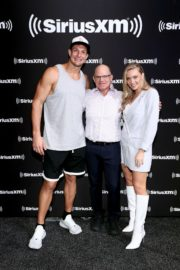 Camille Kostek attends SiriusXM at Super Bowl LIV in Miami 2020/01/30 14