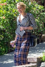 Amber Heard in lining shirt with checked bottom in Beverly Hills, California 2020/03/04 4