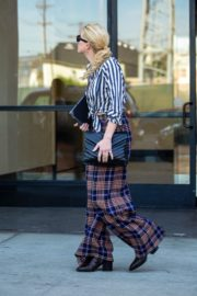 Amber Heard in lining shirt with checked bottom in Beverly Hills, California 2020/03/04 23