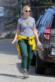 Beth Behrs in Grey T-Shirt and Green Pants in the Hollywood Hills 2020/03/28 3