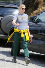 Beth Behrs in Grey T-Shirt and Green Pants in the Hollywood Hills 2020/03/28 8