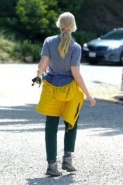 Beth Behrs in Grey T-Shirt and Green Pants in the Hollywood Hills 2020/03/28 9