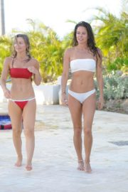Brooke Burke in white bikini at Hyatt Zilara Resorts in the Dominican Republic 2020/02/06 3