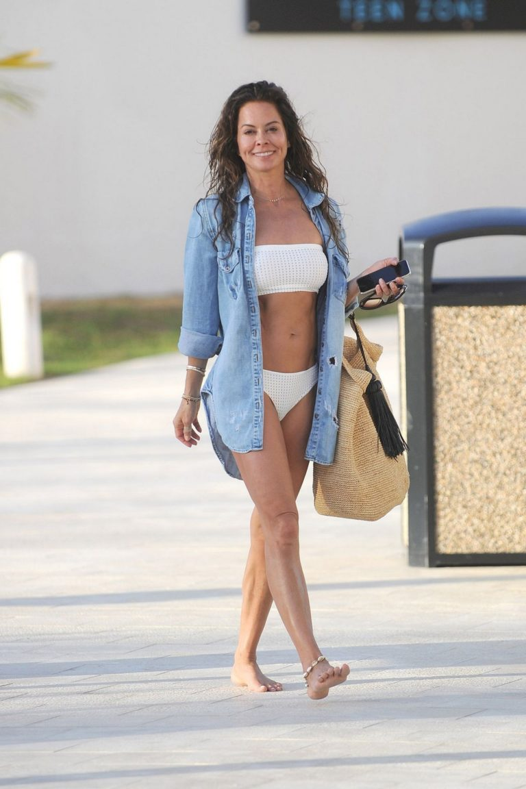 Brooke Burke in white bikini at Hyatt Zilara Resorts in the Dominican Republic 2020/02/06 4