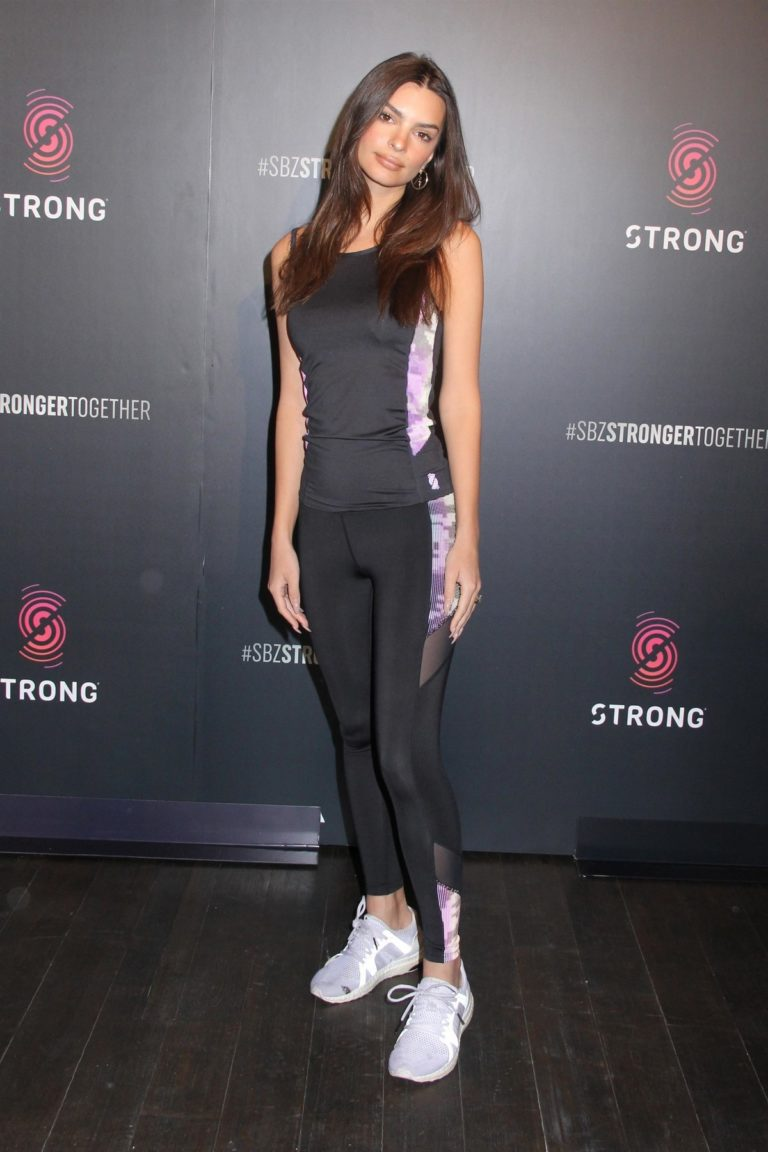 Emily Ratajkowski attends a Strong By Zumba Workout Event in New York City 2020/03/04 6