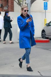 Emma Roberts seen in blue long jacket at adopting a rescue cat in Los Angeles 2020/03/01 8