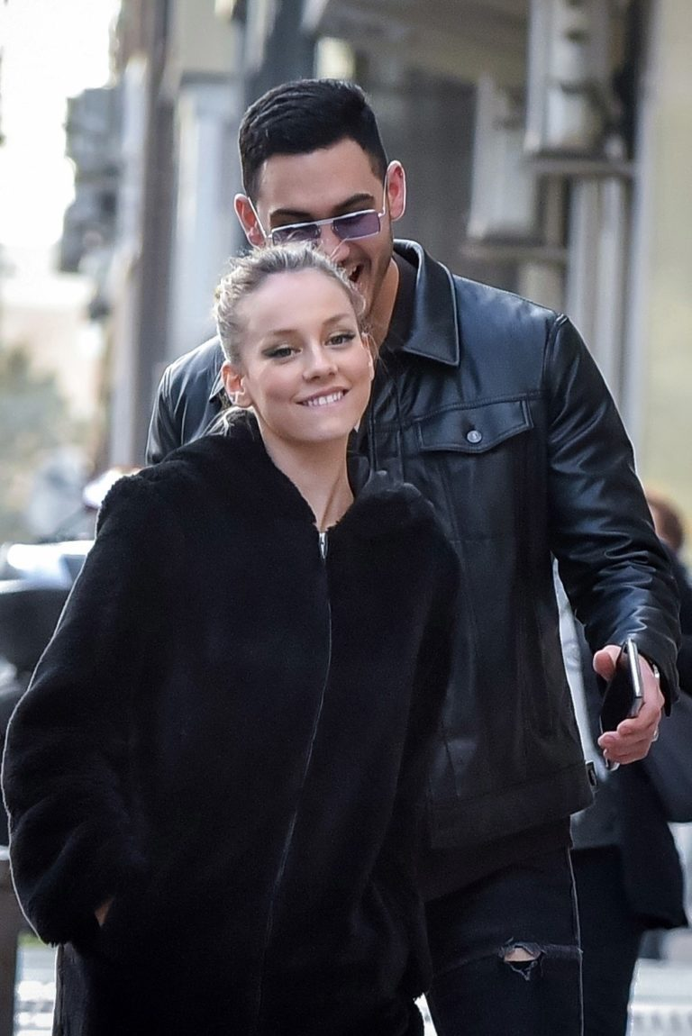 Ester Exposito with her boyfriend Alejandro Speitzer out in Madrid 2020/02/29 3
