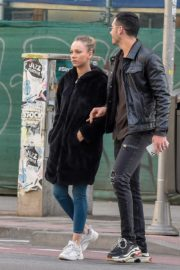 Ester Exposito with her boyfriend Alejandro Speitzer out in Madrid 2020/02/29 10