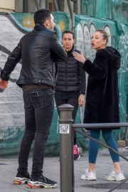 Ester Exposito with her boyfriend Alejandro Speitzer out in Madrid 2020/02/29 11