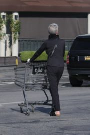 Jamie Lee Curtis Shopping at Gleson's Market in Pacific Palisades 2020/03/26 19