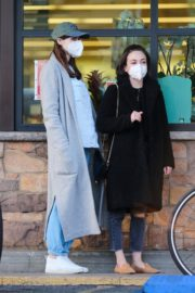 Alexandra Daddario shopping for groceries with a friend in Los Angeles 2020/04/02 2