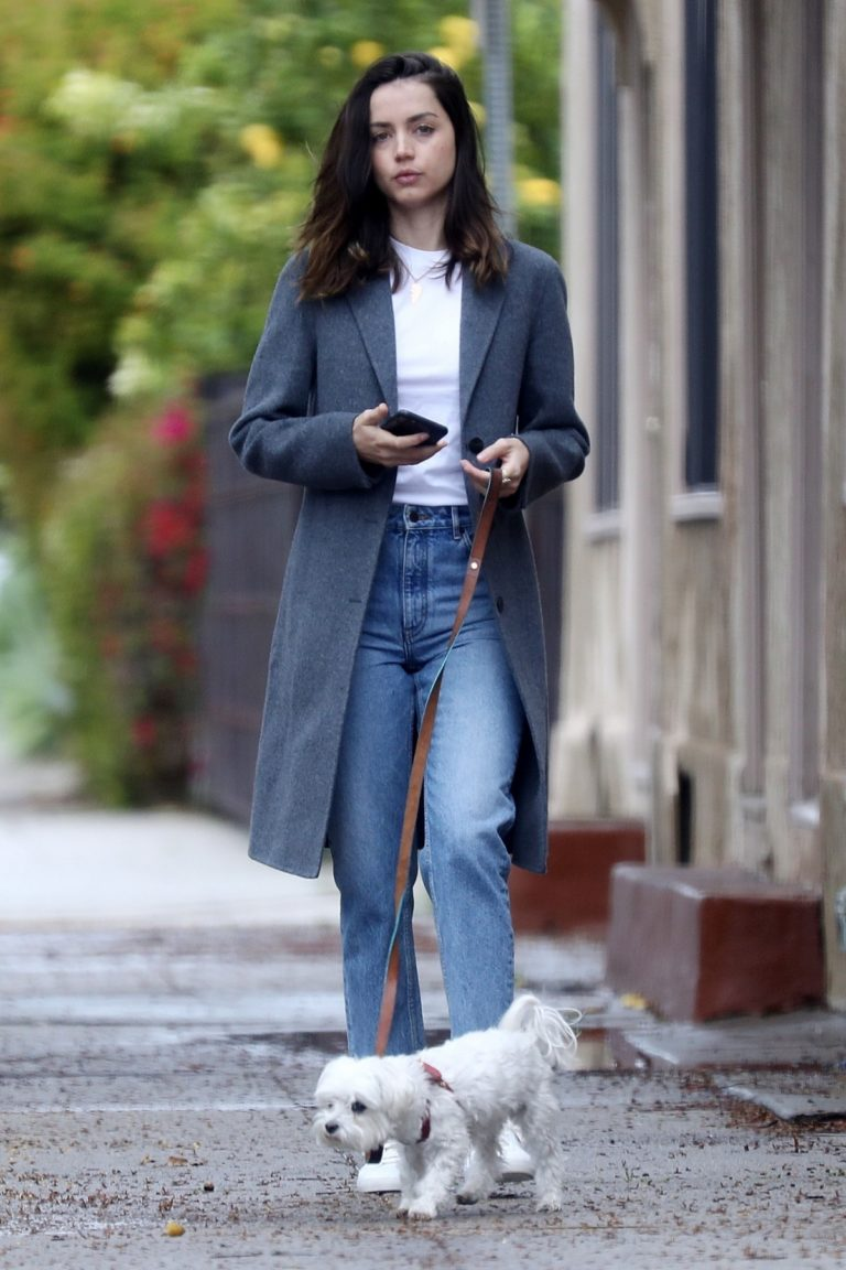 Ana De Armas with her cute puppy out in Los Angeles, California 2020/04/11 4