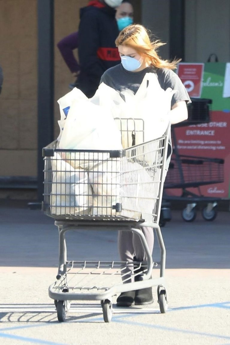 Ariel Winter Shopping for groceries at Gelson's in Los Angeles 2020/04/11 3