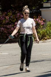 Becca Tobin walks her dog out in Los Angeles 2020/04/11 4