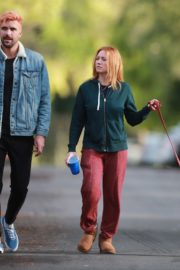 Brittany Snow and husband Tyler Stanaland walk in Los Angeles 2020/04/10 3
