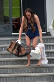 Charlotte Crosby leaves her house to get food delivery in Sunderland 2020/04/03 8