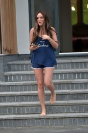 Charlotte Crosby leaves her house to get food delivery in Sunderland 2020/04/03 16