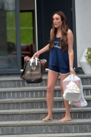 Charlotte Crosby leaves her house to get food delivery in Sunderland 2020/04/03 17