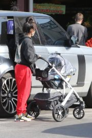 Christina Milian and Matt Pokora Shopping at the Market in Los Angeles 2020/04/04 13