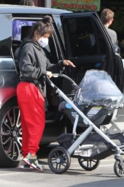 Christina Milian and Matt Pokora Shopping at the Market in Los Angeles 2020/04/04 21