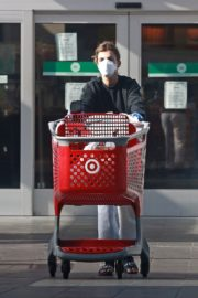 Elisabetta Canalis during Shopping at Target store in West Hollywood 2020/04/05 2