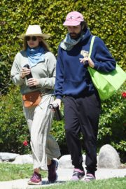 Elizabeth Olsen and fiance Robbie Arnett with homemade masks out in Hollywood Hills 2020/04/11 9
