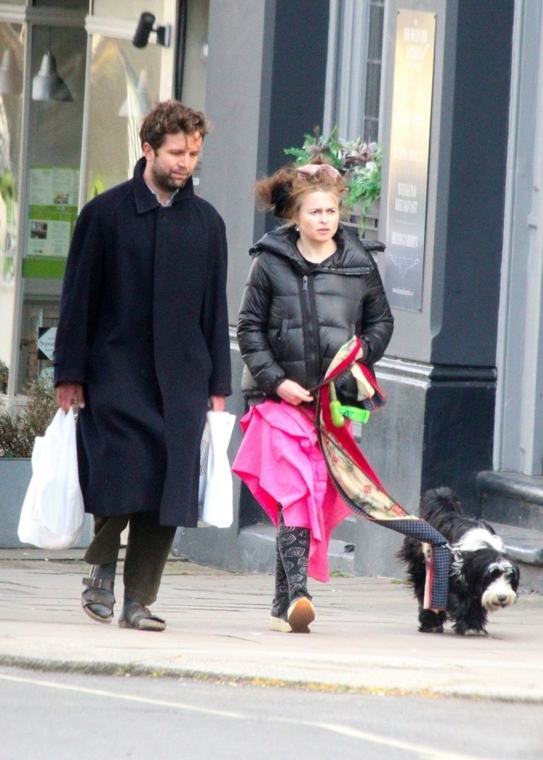 Helena Bonham Carter with her boyfriend Rye Dag Holmboe out in London 2020/04/03 7