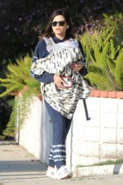 Jenna Dewan with her baby out in Los Angeles 2020/04/03 2