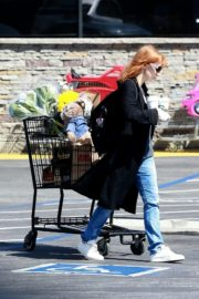 Jessica Chastain Grocery Shopping out in Palos Verdes, California 2020/04/04 5
