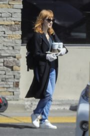 Jessica Chastain Grocery Shopping out in Palos Verdes, California 2020/04/04 14