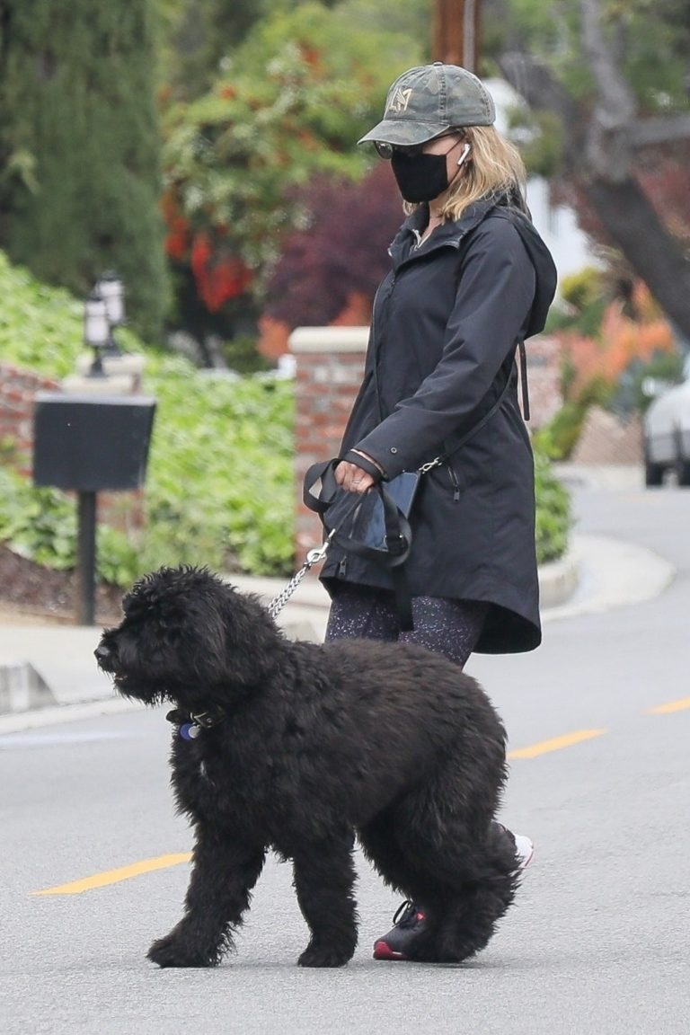 Julie Benz for a walk with her dog in Beverly Hills 2020/04/13 11