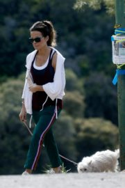 Kate Beckinsale walks with her dog in Los Angeles 2020/04/06 2