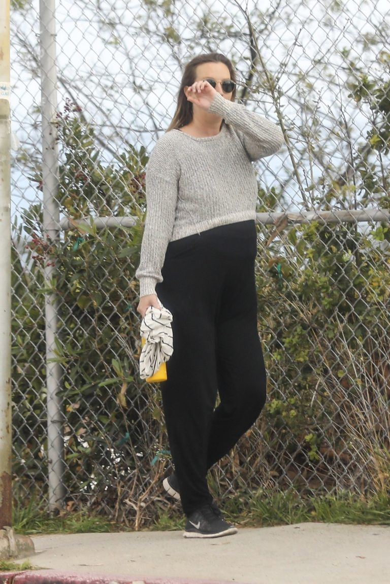 Leighton Meester show off her baby bump goes for a walk in Los Angeles 2020/04/02 6
