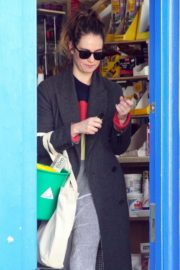 Lily James at a local hardware store in London 2020/04/07 2