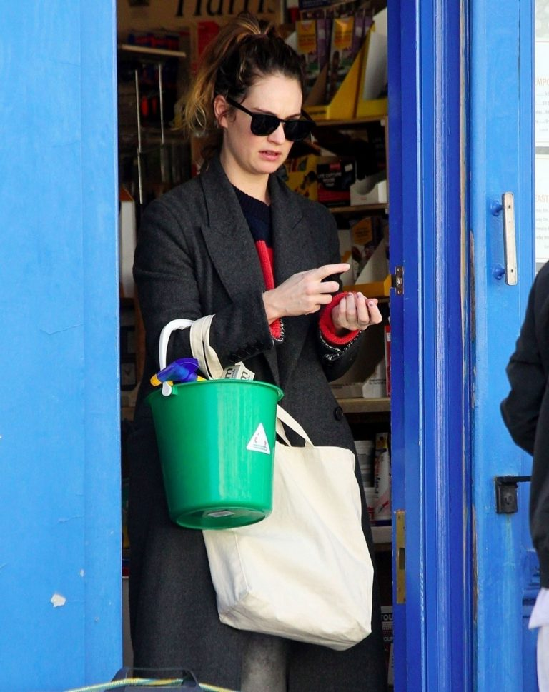 Lily James at a local hardware store in London 2020/04/07 9