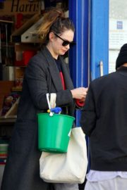 Lily James at a local hardware store in London 2020/04/07 10
